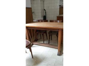 Tavolo in legno originale anni '60 senza cassetti