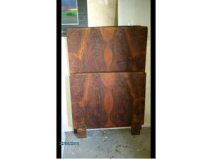 Testata e piediera letto singolo,legno noce,vintage
