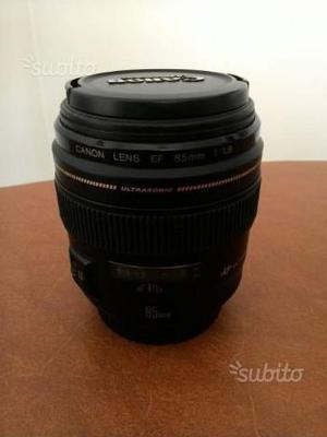 85mm f1.8 obiettivo EF Canon USM