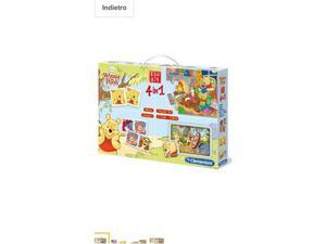 Clementoni - Edukit 4 in 1 Winnie the Pooh Disney