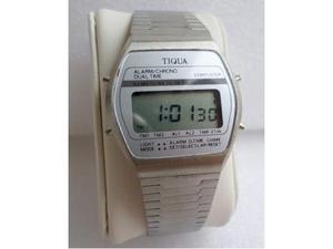 Orologio Tiqua Dual Time Sixxin Anni 80 Stile Casio