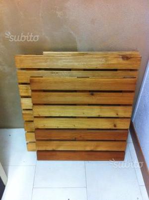 Pedane in legno di pino trattato 70x55 nuove