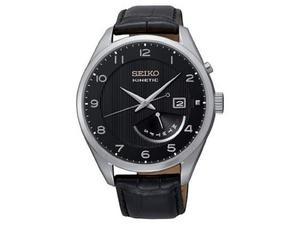 Seiko - Orologio da polso, analogico automatico, pelle