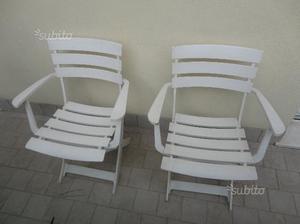 Coppia di sedie thonet con braccioli posot class for Sedie richiudibili