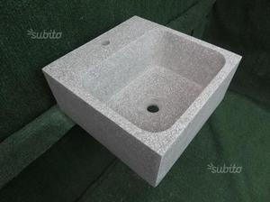 Lavandino per esterno in graniglia di marmo