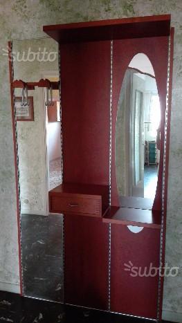 Consolle ingresso da parete con specchio posot class - Appendiabiti con specchio da parete ...