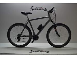 Bici corsa bicicletta ibrida trekking alluminio 3x7 nero