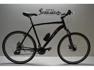 Bici ibrida bike hybrid nera totalmente personalizzabile