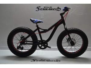 Bicicletta fat bike 20 in alluminio nera mtb totalmente