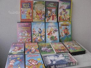 Cassette VHS cartoni animati