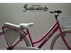 City bike 28 donna acciaio 6v fucsia bianca personalizzabile