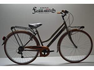 City bike 28 donna acciaio 6v marrone personalizzabile
