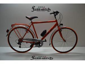 City bike 28 uomo acciaio e arancio e nero 6v