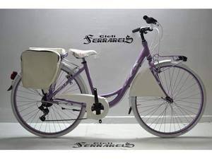 City bike donna 28 6v viola glicine e bianca
