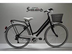 City bike donna 6v in alluminio ner e bianca