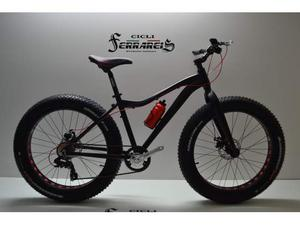 Fat bike 26 mtb 26 personalizzabile 8v nera e rossa
