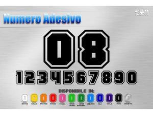 Numero adesivo in vinile per auto moto kart Verniciabile