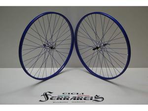 Ruote 26 mtb in alluminio blu 6 velocita city bike passeggio