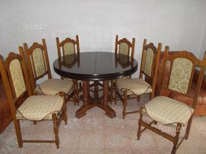 Tavolo per sala da pranzo e 6 sedie