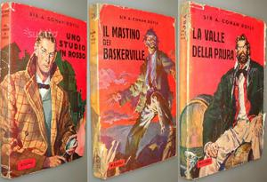 Lotto di 3 volumi Sherlock Holmes, Doyle, 1°Ed. Ri