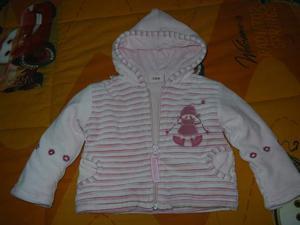 Pastello bebe' giacchetta bimba 3/6 mesi pari al nuovo