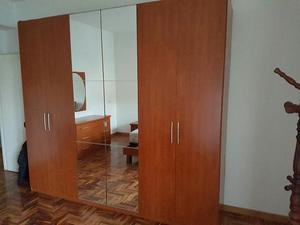 ARMADIO marrone 6 ante di cui 2 a specchio