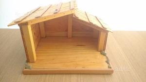 Credenza Per Presepe : Capanna in legno per presepe posot class