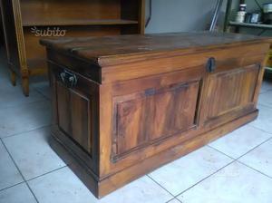 Cassapanca legno massello