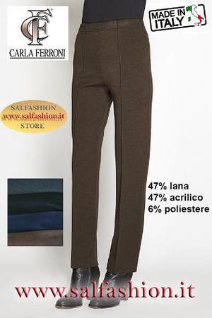 Pantalone donna misto lana CARLA FERRONI
