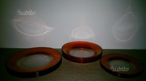 Set piatti in vetro da 6