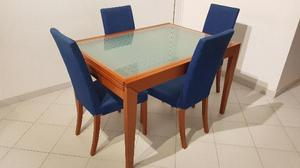 Tavolo con 4 sedie calligaris in ciliegio posot class for Tavolo quadrato allungabile calligaris