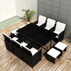 vidaXL Set mobili da pranzo in polirattan 1 tavolo 6 sedie 4
