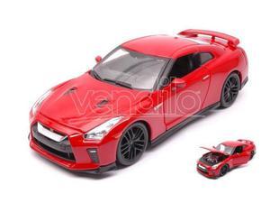 Bburago BUR NISSAN GT-R  RED 1:24 Modellino