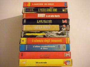 Lotto di 10 VHS videocassette cinema