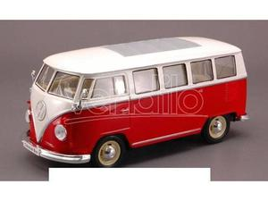 Welly WE VW BUS  RED/WHITE 1:24 Modellino