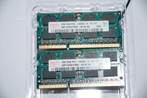 Banco memoria 4Gb (2x2) SODIMM