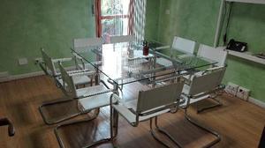 Tavolo usato in cristallo e acciaio chateau posot class for Tavolo cristallo allungabile usato