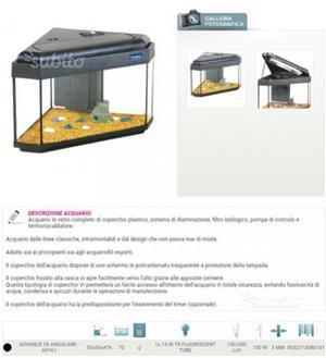 Acquario angolare lt250 posot class for Acquario angolare