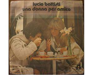 """Disco 45 giri in vinile Lucio Battisti """"una donna per"""
