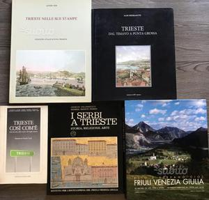 Lotto Stock Blocco 5 libri su Trieste e Friuli