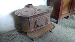 Stufa antica in ghisa posot class - Radiatore per stufa a legna ...