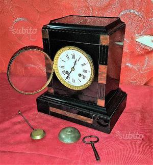 Antico Orologio a pendolo francese in marmo '800