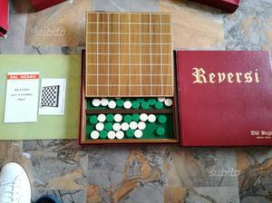 GIOCO REVERSI (scacchi, dama) DAL NEGRO