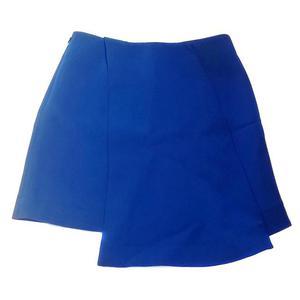 balenciaga vitaminic blue china wool mini skirt with 2