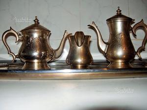 Antico set teiera caffettiera e lattiera Sheffield