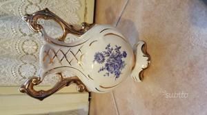Vaso a due manici ovale in ceramica