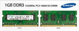 4 Pezzi Memoria RAM 1GB DDR3 Notebook (SPEDIZIONE)