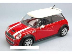 Bburago BUR MINI COOPER S  RED/WHITE 1:24 Modellino