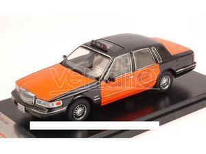 PremiumX PRD363 LINCOLN TOWN CAR  USA TAXI ORANGE/BLACK