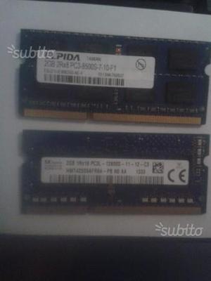 Ram memoria 2x 2gb tot 4gb pc3